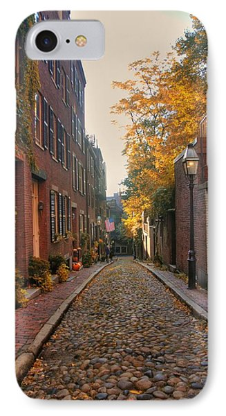 Acorn St. 3 IPhone Case by Joann Vitali