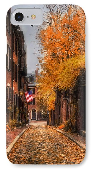 Acorn St. IPhone Case by Joann Vitali