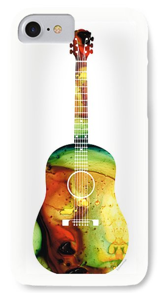 Acoustic Guitar - Colorful Abstract Musical Instrument IPhone Case