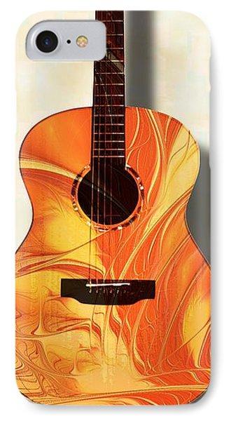 Acoustic Guitar - Musical Instruments IPhone Case by Anastasiya Malakhova