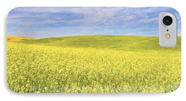 Acreage Of Yellow II IPhone Case by Jon Glaser