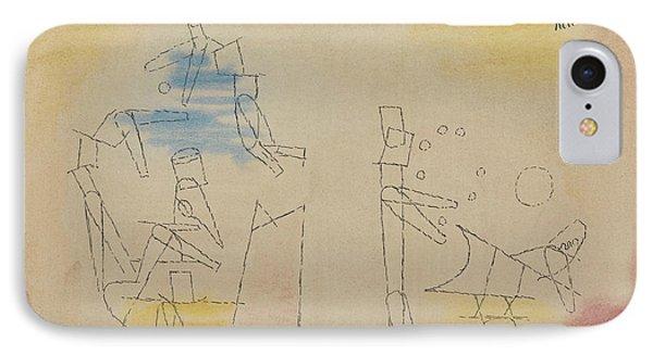 Acrobats IPhone Case by Paul Klee
