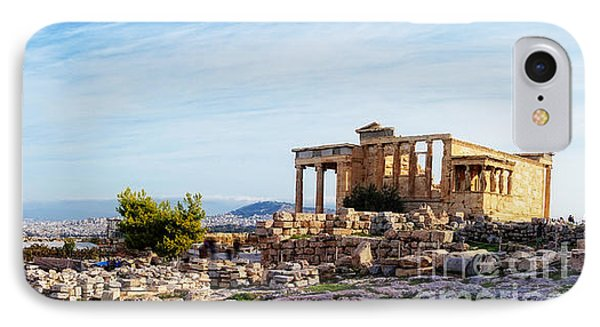 Acropolis Of Athens Panoramic IPhone Case