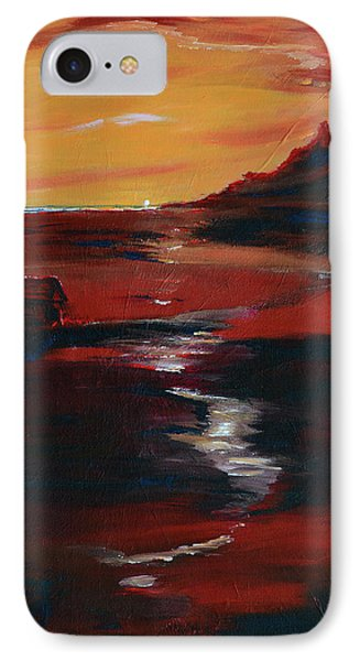 Across Amber Fields To The Sea IPhone Case by Donna Blackhall
