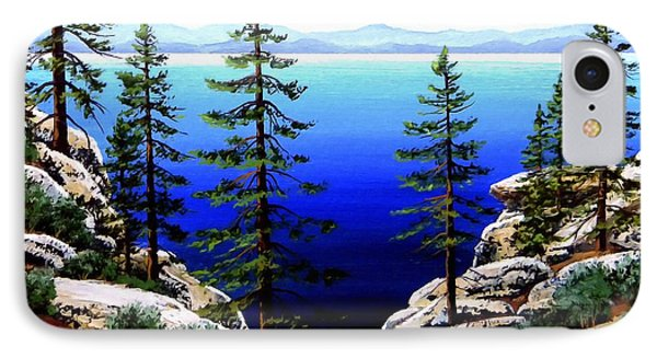 Across Lake Tahoe Phone Case by Frank Wilson