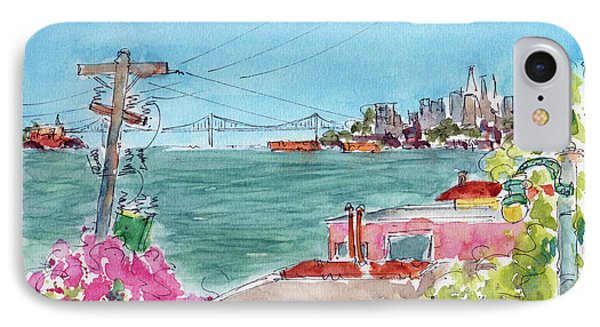 IPhone Case featuring the painting Across The Bay From Sausalito by Pat Katz