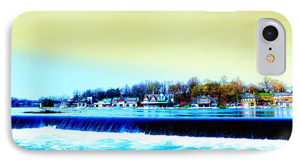 Across The Dam To Boathouse Row. Phone Case by Bill Cannon