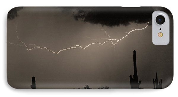 Across The Desert - Sepia Print Phone Case by James BO  Insogna