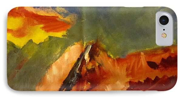 IPhone Case featuring the painting Across The Divide by Patricia Cleasby