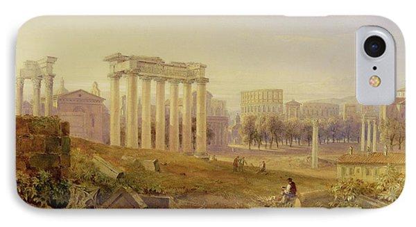Across The Forum - Rome IPhone Case by Hugh William Williams