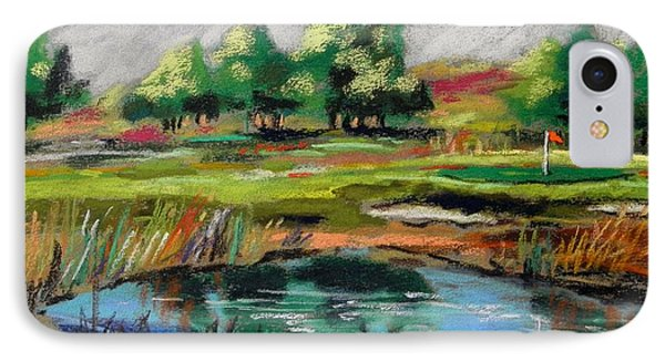 IPhone Case featuring the painting Across The Water Hazard by John Williams