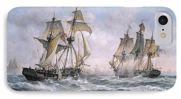 Action Between U.s. Sloop-of-war 'wasp' And H.m. Brig-of-war 'frolic' IPhone Case by Richard Willis
