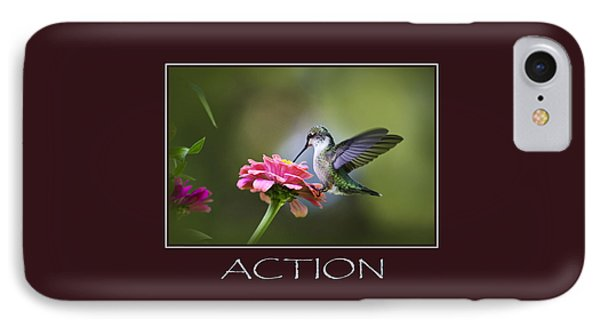 Action Inspirational Motivational Poster Art Phone Case by Christina Rollo