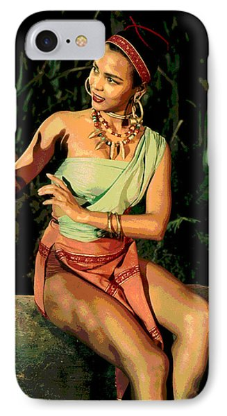 Actress Dorothy Fandridge IPhone Case by Charles Shoup