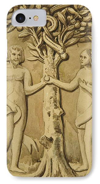 Adam And Eve IPhone Case by Joesph Manning