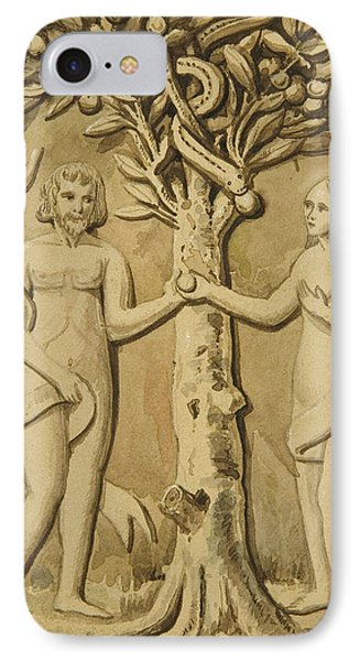 Adam And Eve IPhone Case by Joseph Manning