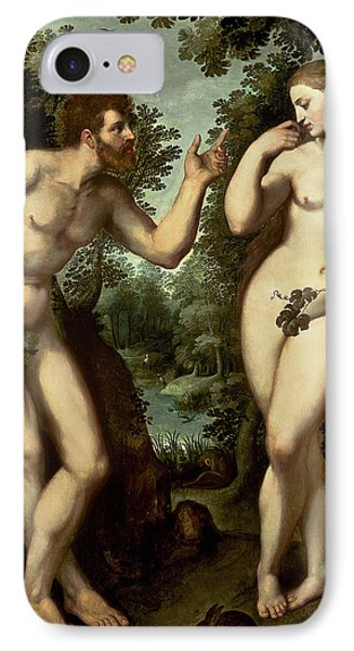 Adam And Eve IPhone Case by Peter Paul Rubens