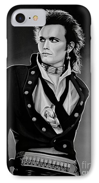 Ant iPhone 7 Case - Adam Ant Painting by Paul Meijering