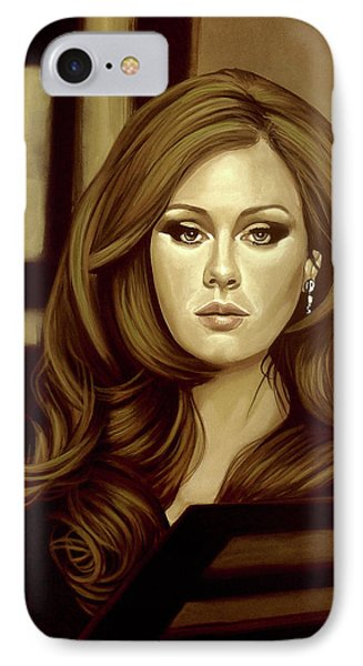 Adele Gold IPhone 7 Case by Paul Meijering