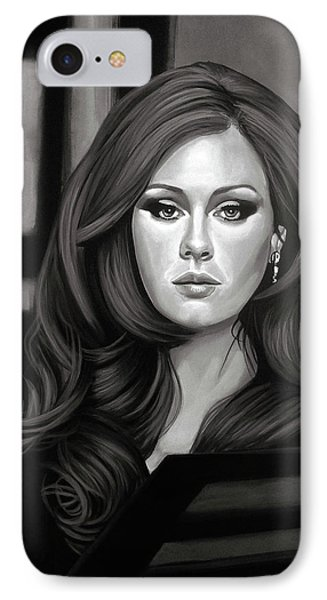 Adele Mixed Media IPhone 7 Case by Paul Meijering
