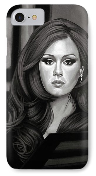Adele Mixed Media IPhone Case by Paul Meijering