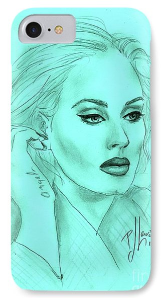 Adele IPhone 7 Case by P J Lewis