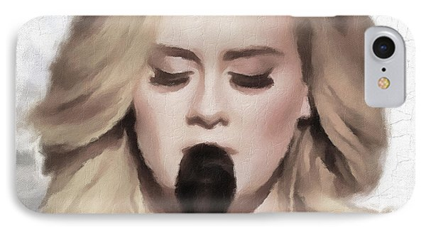 Adele Portrait Hello IPhone 7 Case by Yury Malkov