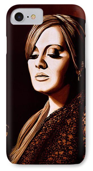 Rhythm And Blues iPhone 7 Case - Adele Skyfall Gold by Paul Meijering