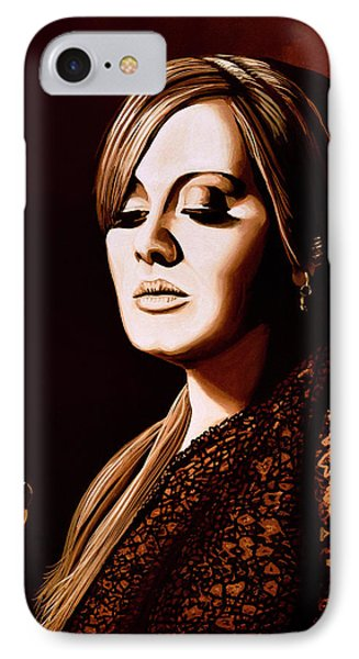 Adele Skyfall Gold IPhone 7 Case by Paul Meijering