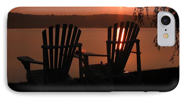 Adirondack Chairs-1 Phone Case by Michael Mooney