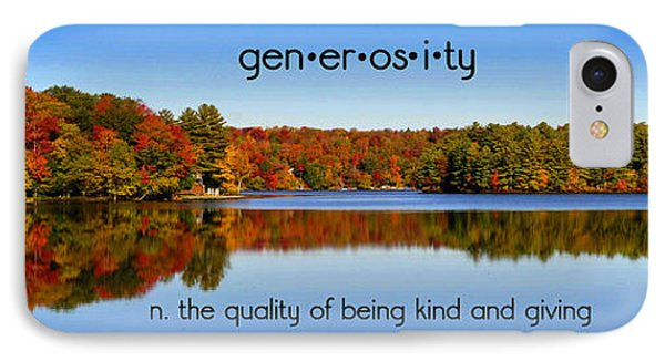 IPhone Case featuring the photograph Adirondack October Generosity by Diane E Berry