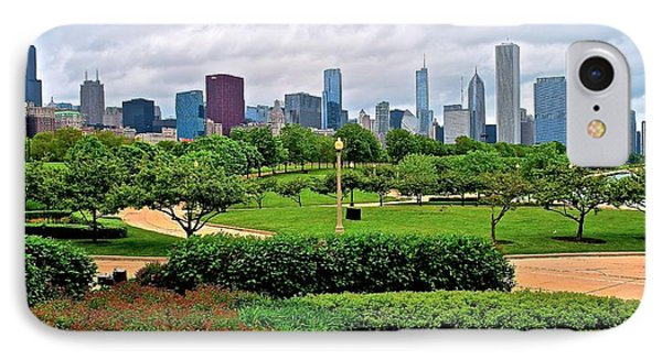 Adler View Of Chicago IPhone Case by Frozen in Time Fine Art Photography