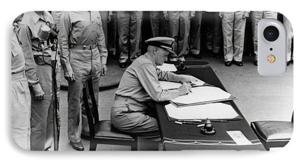 Admiral Nimitz Signing The Japanese Surrender  IPhone Case