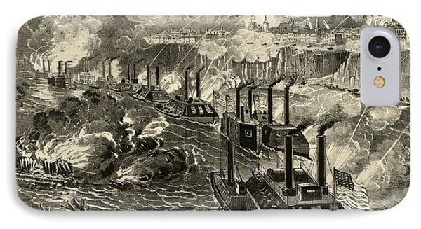Admiral Porter's Fleet Running The Rebel Blockade Of The Mississippi At Vicksburg IPhone Case by American School
