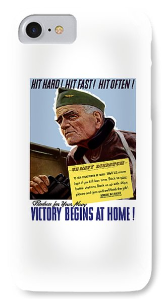 Admiral William Bull Halsey -- Ww2 Propaganda  IPhone Case by War Is Hell Store