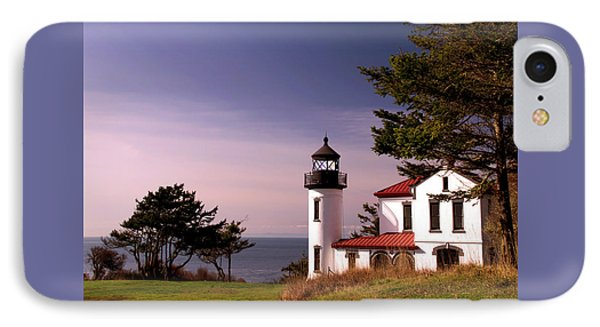 Admiralty Head Lighthouse On Whidbey Island, Washington State, Usa IPhone Case by Greg Sigrist