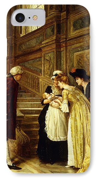 Admiring The Baby IPhone Case by George Goodwin Kilburne