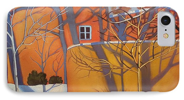 Adobe, Shadows And A Blue Window IPhone Case by Art West