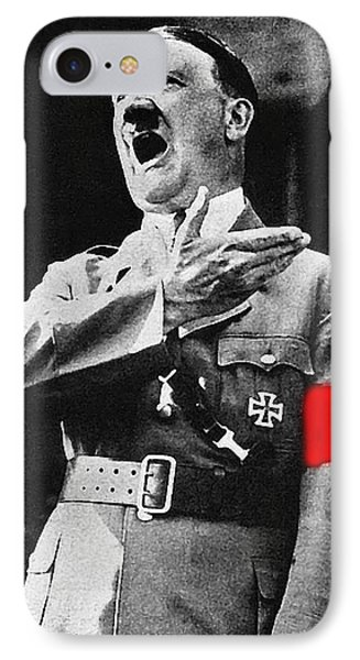 Adolf Hitler Ranting 1  IPhone Case by David Lee Guss