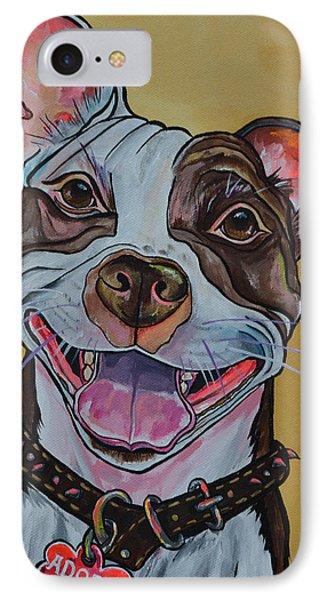 Adopt A Pit Bull IPhone Case by Patti Schermerhorn