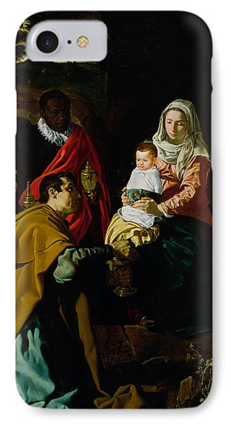 Adoration Of The Kings IPhone Case by Diego rodriguez de silva y Velazquez