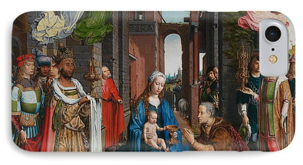 Adoration Of The Magi IPhone Case by Jan Gossaert