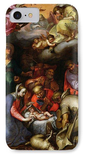 Adoration Of The Shepherds Phone Case by Abraham Bloemaert