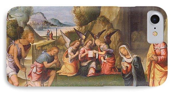 Adoration Of The Shepherds IPhone Case by Benvenuto Tisi da Garofalo