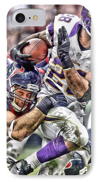 Adrian Peterson Art 3 IPhone Case by Joe Hamilton