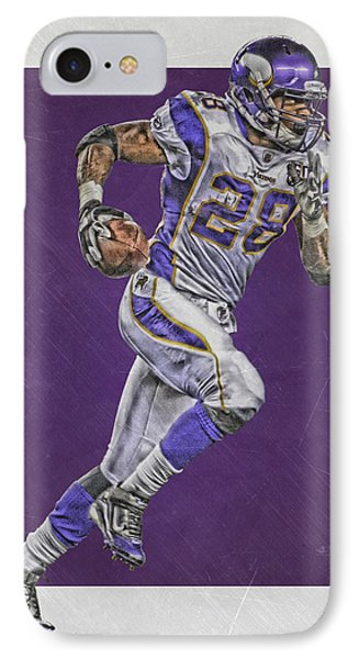 Adrian Peterson Minnesota Vikings Art 6 IPhone Case by Joe Hamilton