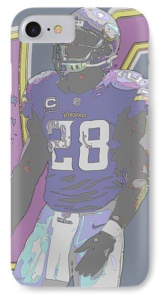 Adrian Peterson Minnesota Vikings Contour Art IPhone Case by Joe Hamilton