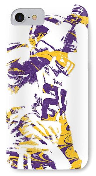 Adrian Peterson Minnesota Vikings Pixel Art 5 IPhone Case by Joe Hamilton