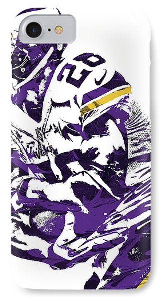 Adrian Peterson Minnesota Vikings Pixel Art IPhone Case by Joe Hamilton