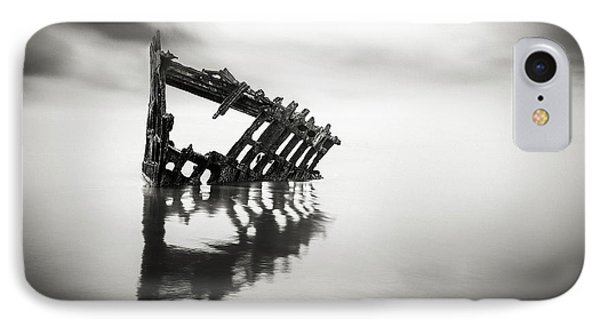 Adrift At Sea In Black And White Phone Case by Eduard Moldoveanu